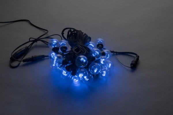 LED-2BLR-50CM-10M-240V-B, Белт-лайт с лампами, синий/черный пр.