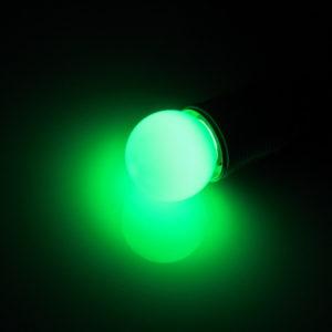 LED лампа – шарик с цоколем E27, 45 мм, (5 светодиодов), матовые, зелёный