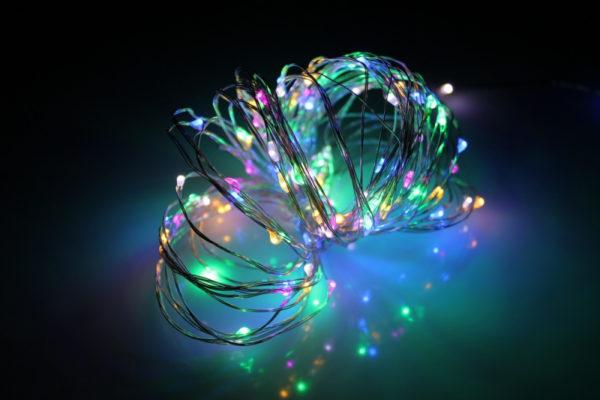 LED Роса 20м, мульти