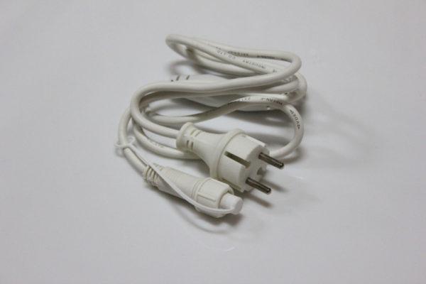 Силовой шнур для бахромы (LED-RPLR-160-4.8M/LED-RPLR-160-4.8M FLASH) белый