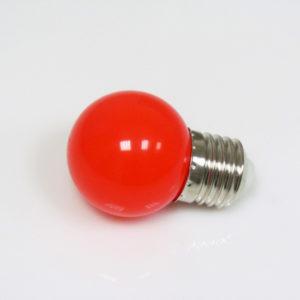LED лампа — шарик с цоколем E27, 45 мм, (5 светодиодов), матовые, красный