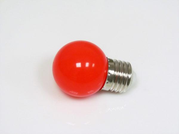 LED лампа - шарик с цоколем E27, 45 мм, (5 светодиодов), матовые, красный 2