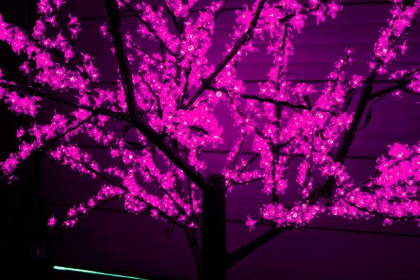 Сакура светодиодная 1728LED, H2,5м D2,0м, розовое 1