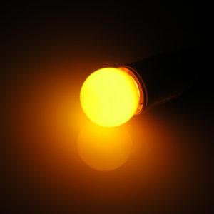 LED лампа – шарик с цоколем E27, 45 мм, (5 светодиодов), матовые, оранжевый