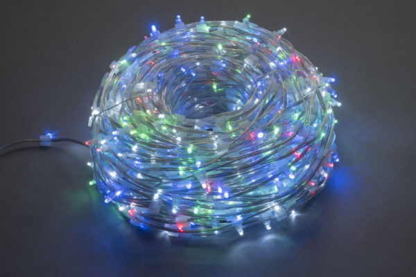 LED клип-лайт, длина 100М без трансформатора, мульти цвет, прозраный провод 1