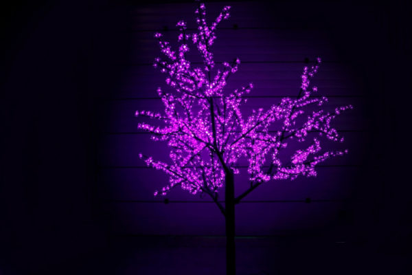 Сакура светодиодная 1728LED, H2,5м D2,0м, фиолетовое 1
