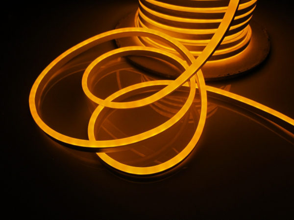 Леднеон флекс, 8x16мм, бухта 50м, кратность резки 1,52м, жёлтый