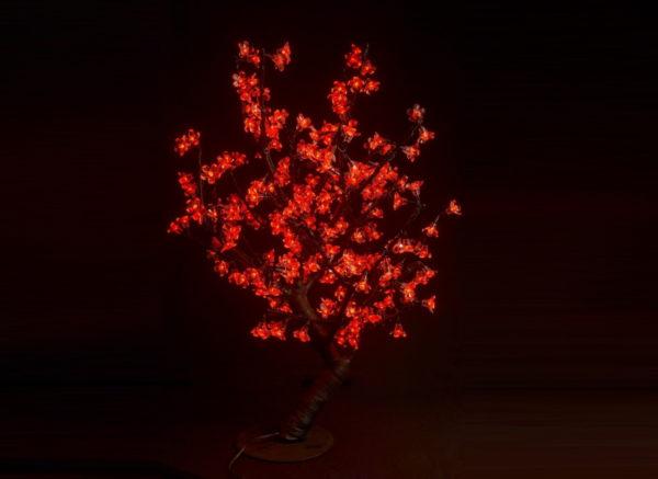 Куст сакуры 224LED, 0,8х0,8м, красный