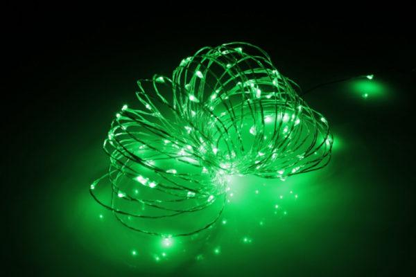 LED Роса 10м, зелёная