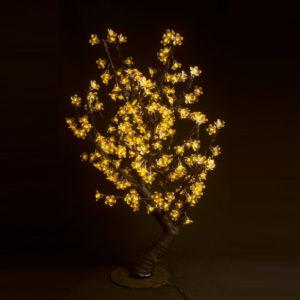 Куст сакуры 224LED, 0,8х0,8м, желтый