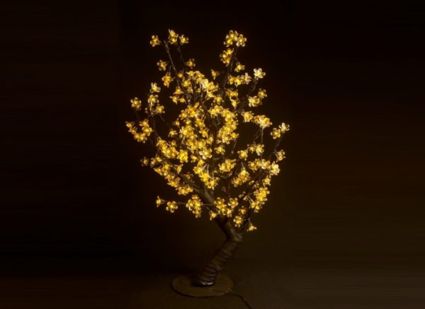 Куст сакуры 224LED, 0,8х0,8м, желтый 1