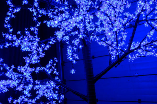 Сакура светодиодная 2688LED, H3,6м D3,0м, синее 2