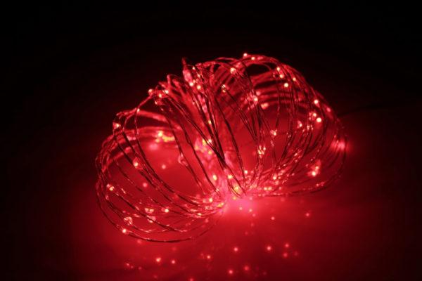 LED Роса 20м, красная
