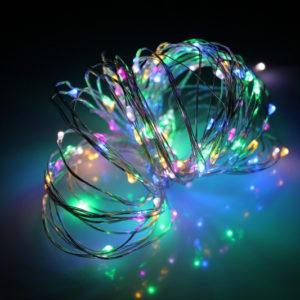 LED Роса 10м, мульти