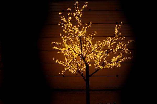 Сакура светодиодная 1728LED, H2,5м D2,0м, желтое 1