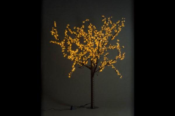 Сакура светодиодная 972LED, H1,9м D1,5м,желтое
