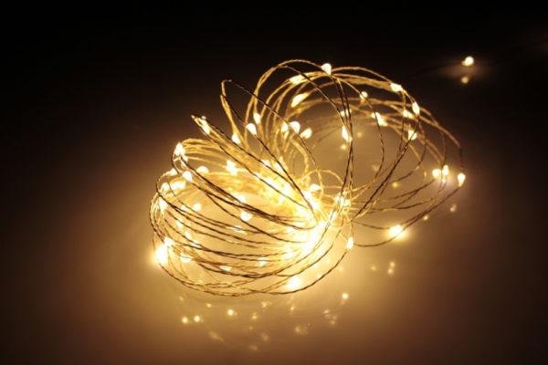 LED Роса 10м, тёплый белый