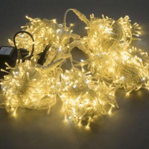 Гирлянда-спайдер Flash 5х20м, 1000LED, прозрачный провод, белый тёплый/белый флэш