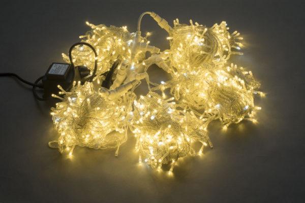 Гирлянда-спайдер Flash 5х20м, 1000LED, прозрачный провод, белый тёплый/белый флэш 1