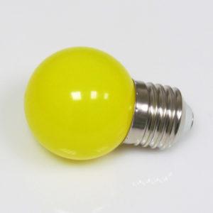 LED лампа — шарик с цоколем E27, 45 мм, (5 светодиодов), матовые, жёлтый
