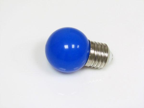 LED лампа - шарик с цоколем E27, 45 мм, (5 светодиодов), матовые, синий 2