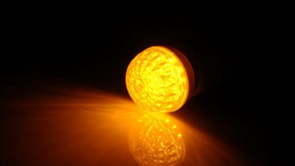 LED лампа с цоколем E27, 50 мм, (9 светодиодов), желтый 1