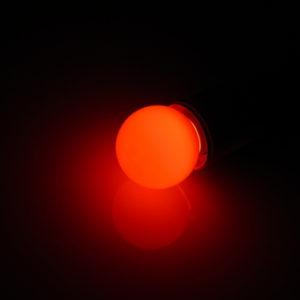 LED лампа – шарик с цоколем E27, 45 мм, (5 светодиодов), матовые, красный
