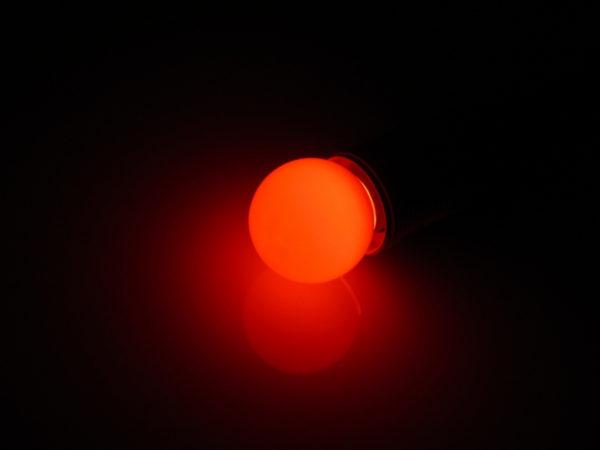 LED лампа - шарик с цоколем E27, 45 мм, (5 светодиодов), матовые, красный 1