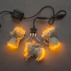 Гирлянда-спайдер Flash 3х20м, 600LED, прозрачный провод, желтый/желтый флэш