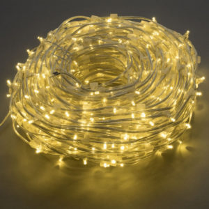 LED клип-лайт Flash, длина 100М без трансформатора, тёплый белый/тёплый белый флэш, прозраный провод