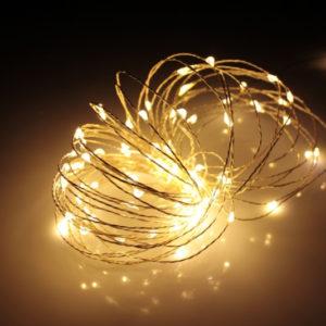 LED Роса 20м, тёплый белый