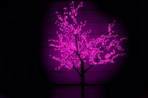 Сакура светодиодная 1728LED, H2,5м D2,0м, розовое