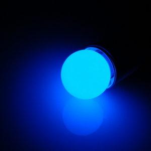 LED лампа – шарик с цоколем E27, 40 мм, (5 светодиодов), матовые, синий