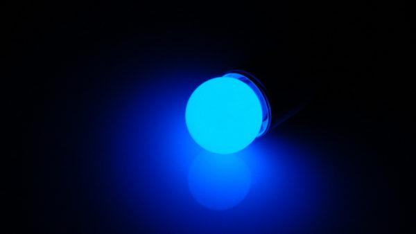 LED лампа - шарик с цоколем E27, 40 мм, (5 светодиодов), матовые, синий