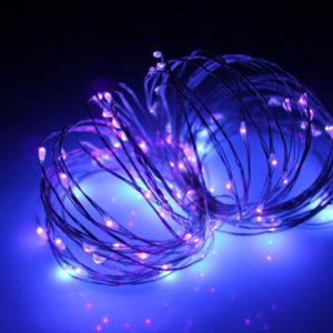 LED Роса 10м, пурпурный
