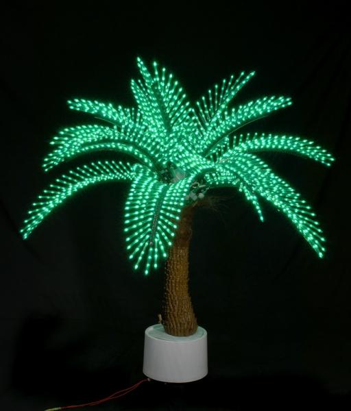 Пальма Японская 1,2м, 2328 светодиодов, зеленая 1