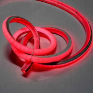 Леднеон флекс, 20х20мм, 50м, кратность резки 0,5м, красный