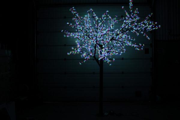 Сакура светодиодная 2688LED, H3,6м D3,0м, RGB 1