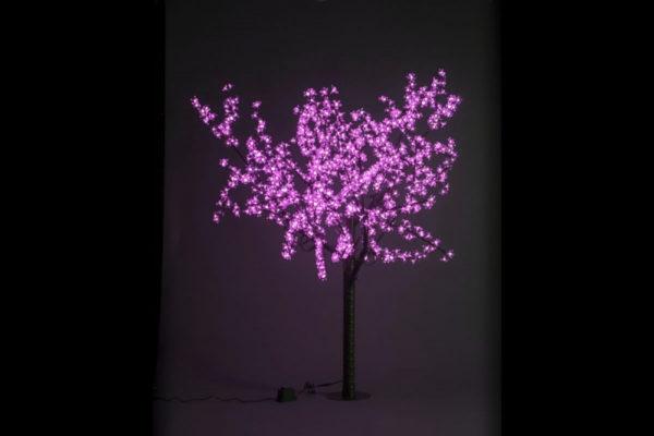 Сакура светодиодная 972LED, H1,9м D1,5м, розовое