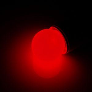 LED лампа – шарик с цоколем E27, 40 мм, (5 светодиодов), матовые, красный