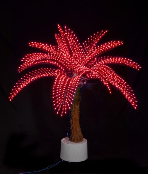 Пальма Японская 1,2м, 2328 светодиодов, красная
