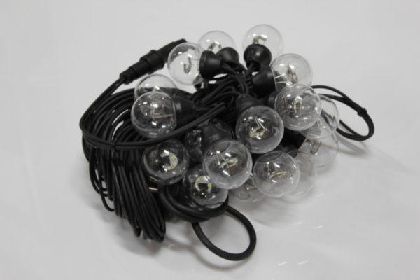 LED-2BLR-2835-50CM-10M-240V-W/BL, Белт-лайт с лампами белый/черный пр. 2