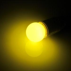 LED лампа – шарик с цоколем E27, 45 мм, (5 светодиодов), матовые, жёлтый