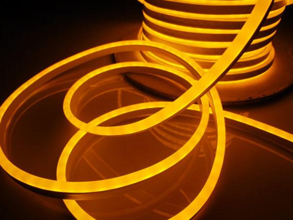 Леднеон флекс, 8x16мм, бухта 50м, кратность резки 1,52м, жёлтый 1