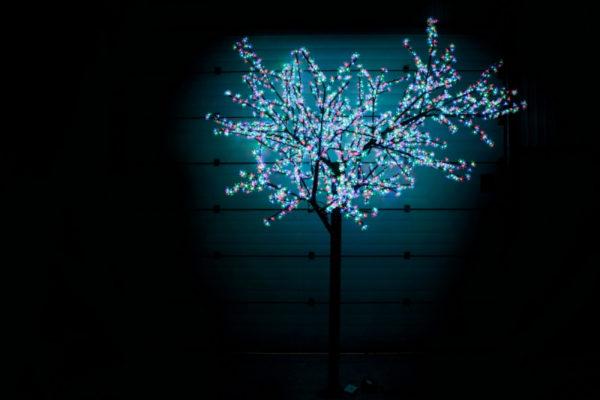 Сакура светодиодная 2688LED, H3,6м D3,0м, RGB