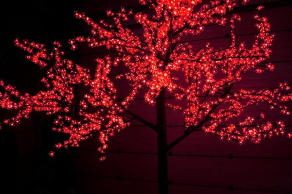 Сакура светодиодная 2688LED, H3,6м D3,0м, красное 1