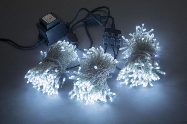 Гирлянда-спайдер Flash 3х20м, 600LED, прозрачный провод, белый/белый флэш