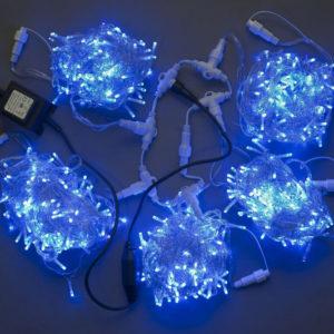 Гирлянда-спайдер Flash 5х20м, 1000LED, прозрачный провод, синий/синий флэш