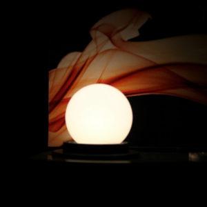 LED лампа – шарик с цоколем E27, 45 мм, (5 светодиодов), матовые, тёплый белый