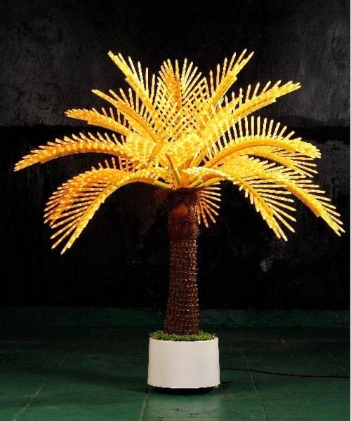 Пальма Японская 1,2м, 2328 светодиодов, желтая